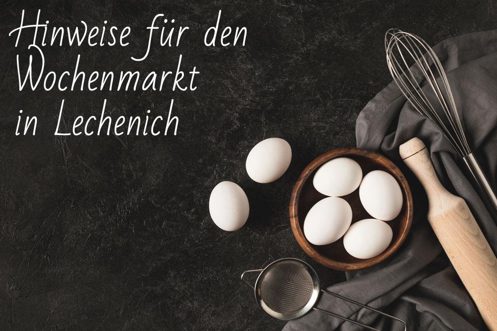 Geflügel H. Huth Hinweis Wochenmarkt Lechenich