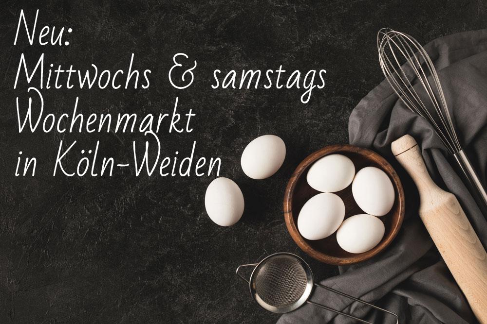 Hinweise Wochenmark Köln-Weiden